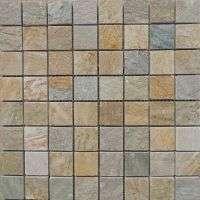 natural slate stone mosaic tile mount on mesh Manufacturer