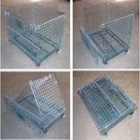 Wire Warehouse Cages Steel Mesh Stillages Stackable Metal Bins Manufacturer