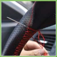 Handmade Leather Steering Wheel Cover