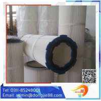 Industrial Polyester Air Filter Cartridge Micro Elements Plants