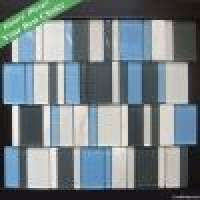 Newly Designed Glass Stone Strip Mosaic Manufacturer