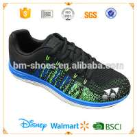Flyknit rainbow colored 3D upper sports shoes running shoes Manufacturer