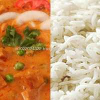 Mutter Paneer Steamed Basmati Rice