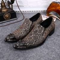 Handmade Snake Skin Leather Formal Shoes for Men
