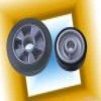 Rubber Caster Wheels Aluminum Centre Manufacturer