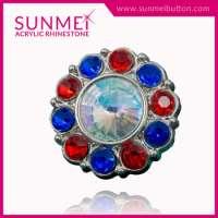 Colored Rhinestone Button