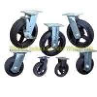 Moldon Rubber Caster Wheels Cast Iron Centers Manufacturer