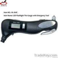 Digital tire pressure gauge LED TorchEmergency Hammer Manufacturer