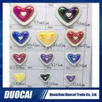 footwear accessories plastic shoe buckle heart design slipper decoration Manufacturer