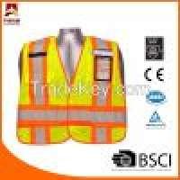 Braided Tape and 1 Band 2 Brace Siliver Reflective Tape Hi Vis Safety Vest Manufacturer