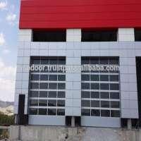 Aluminum plesi glass garage doors or tempered glass full vision Manufacturer