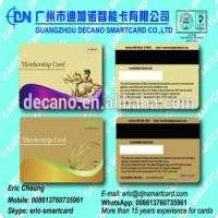 Plastic VIP gold and Silver Membership Card