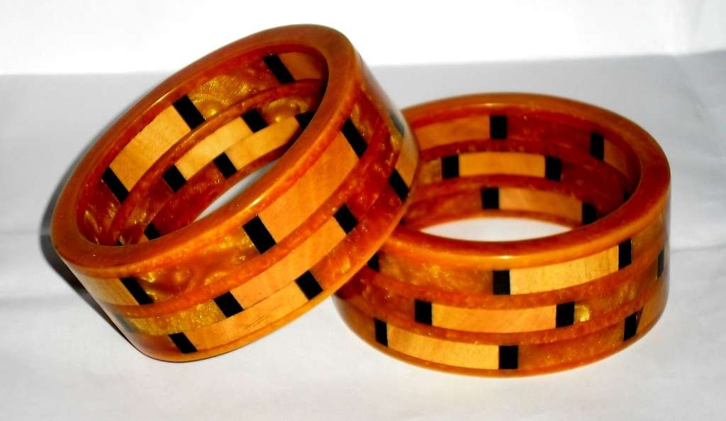 wooden bangles and earrings