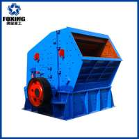 Portable impact crusher road construction equipment