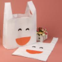 Disposable colored handle vest plastic trash bags Manufacturer
