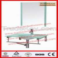 CE5 glass wash basinbathroom sinkbathroom basinglass vanityglass furniture Manufacturer